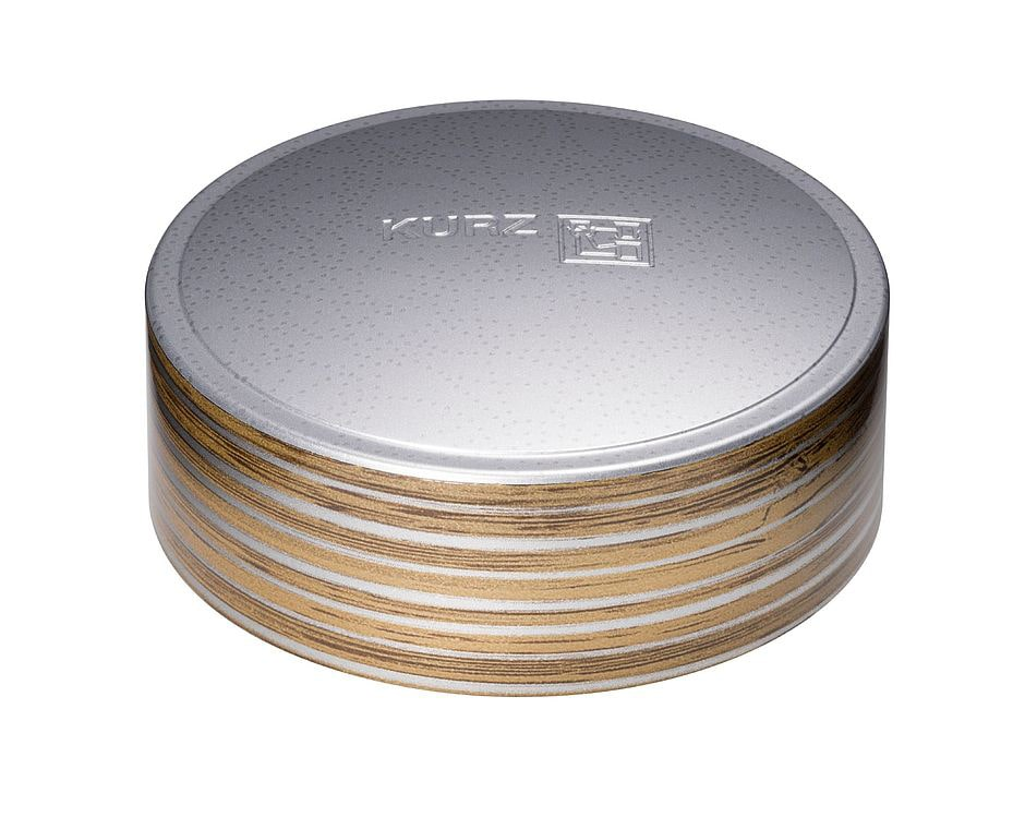 Surface decoration cosmetics & healthcare CAP-tivate luxury silver wood