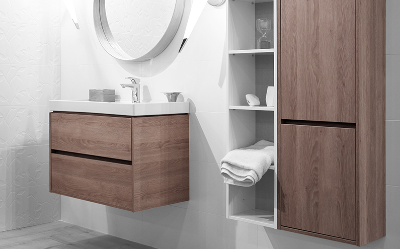 Surface decoration bathroom furniture