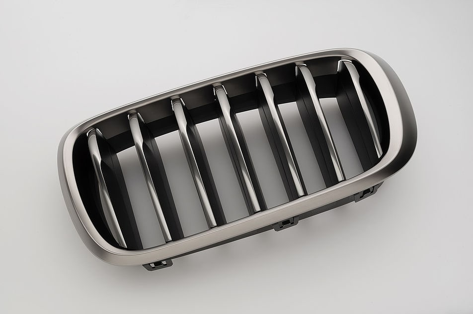 Surface decoration vehicle exterieur radiator grille
