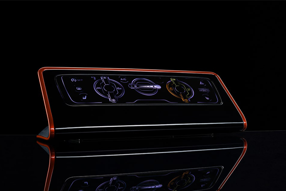 IML Dekoration Technologie Automotive Interieur Backlighting